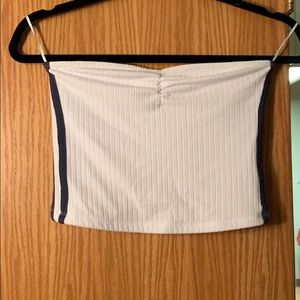 Strapless crop tube top